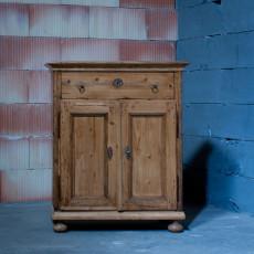 kleines Sideboard Barock, Natur, restauriert